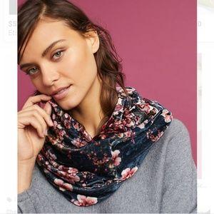 Anthropologie Tolani cherry blossom velvet scarf